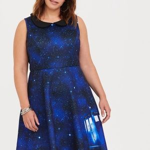 NEW Doctor Who Collection TARDIS skater dress